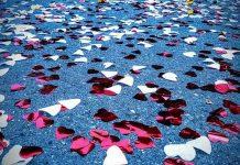 Svadobná výzdoba - konfety