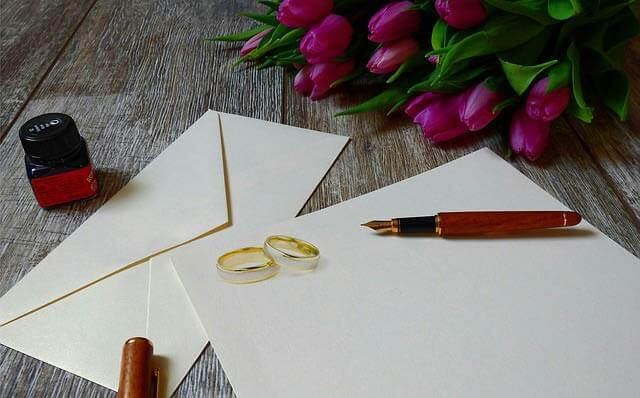 Text na svadobných oznámeniach