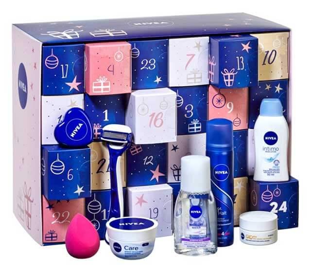 Adventný kalendár s kozmetikou značky NIVEA poteší najmä ženy