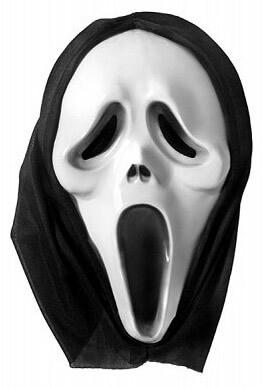 Strašidelná maska z filmu Vreskot patrí medzi najznámejšie masky na karneval a Halloween