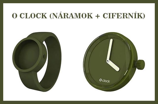 O CLOCK - ciferníky i náramky sa dajú rôzne kombinovať, podobne ako pri O BAG taškách