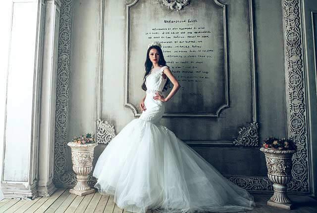 Strih svadobných šiat - mermaid