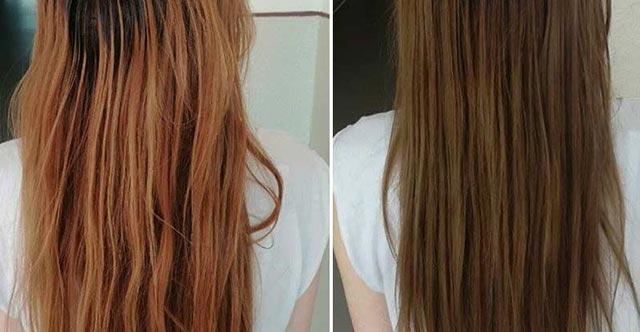 Henna aplikovaná na vlasy