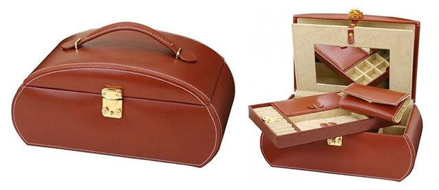Luxusná kožená pánska šperkovnica