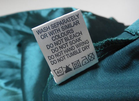 Pred praním obliečok si vždy prezrite štítok na pranie