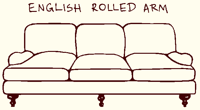 ENGLISH ROLLED ARM