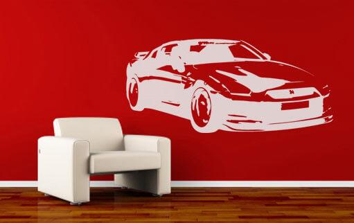 Samolepky na stenu - autá
